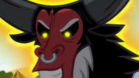 Tirek looking at Earth ponies menacingly S4E25
