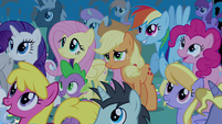 Twilight's friends in the crowd S4E02