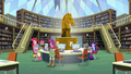 Twilight, Cheerilee, and Crusaders in library EG.png
