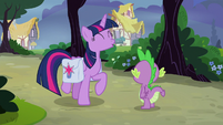 Twilight Sparkle trotting with excitement S9E16