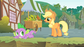 Applejack asks why Twilight is in a ditch S1E15.png