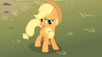 Applejack looking concerned S01E18