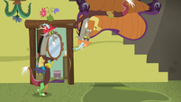 Discord in a lounge chair on the ceiling S7E12