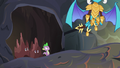 Ember flying away from Spike S6E5.png