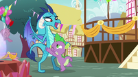 Ember uncomfortable with Spike's hug S7E15