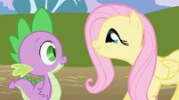 Fluttershy calling Spike --so cute!-- S1E01
