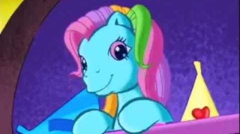 G4 Rainbow Dash's reaction to G3 Rainbow Dash.