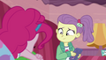 Lily Pad smiling at sleeping Pinkie Pie EGDS3.png
