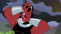 Lord Tirek groaning exaggeratedly S9E8