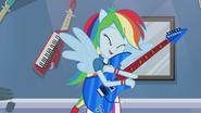 Rainbow Dash hugging guitar EG2