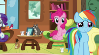 Rainbow Dash moved by Fluttershy's ambition S7E5