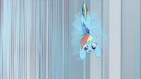 Rainbow Dash spiraling toward the ground S8E12