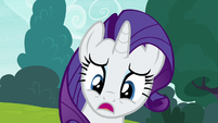 Rarity -what's the matter, darling-- S7E6