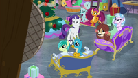 Rarity and Young Six look at P.A. system BGES3