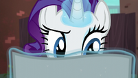 Rarity reading the flyer S5E16