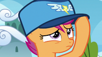 Scootaloo wearing a Wonderbolts hat S8E20