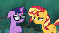 Sunset amused by Sci-Twi's freakout EGSB
