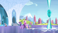 Twilight, Cadance, and Spike walk to the palace S4E24.png