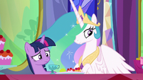 Twilight and Celestia waiting for Starlight S6E6