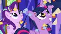 Twilight and Starlight watch confetti rain S8E2