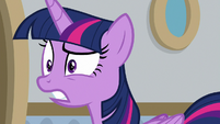 Twilight baffled by Rarity's words S8E16