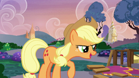 "Applejack ""show's back on, fellers!"" S7E9"