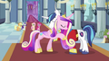 Cadance and Shining Armor embrace S02E26.png