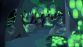 Changelings fly past Discord's hiding spot S6E26.png