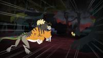 Chimera running towards Applejack S4E17