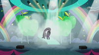 Coloratura continues walking down stairs while flipping her mane S5E24