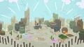 Desert village restored in Pinkie Pie's story S7E11.png