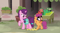 Disguised Scootaloo pretending to feel guilty S7E8