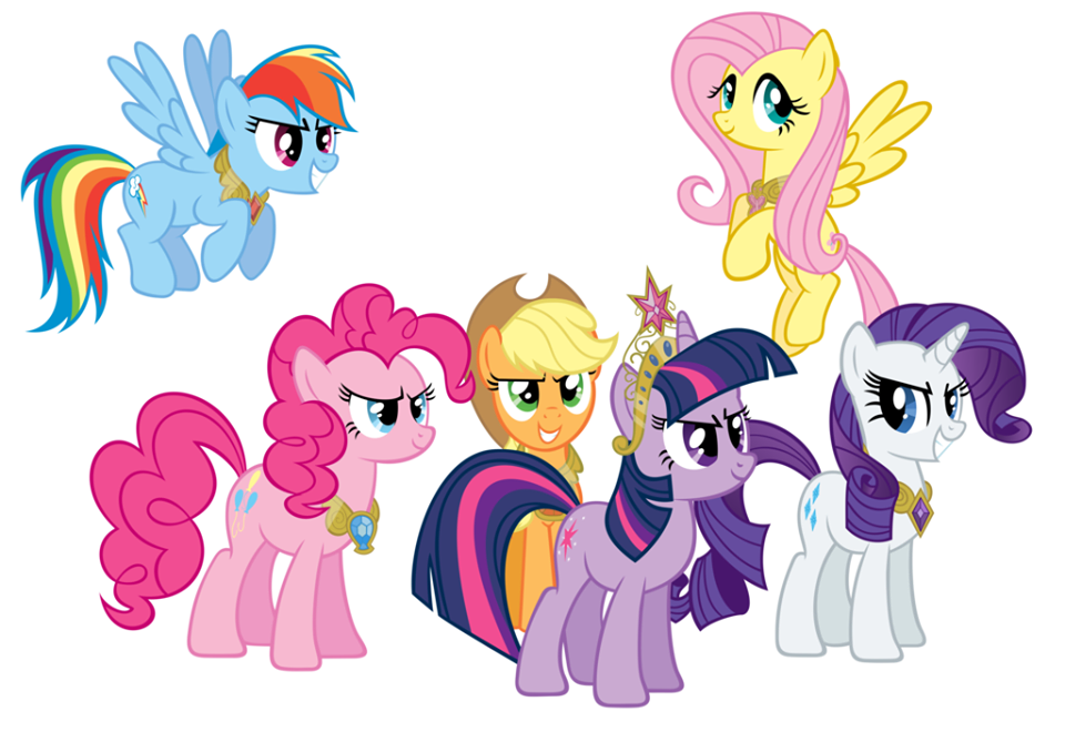 Image - FANMADE Mane Six wearing Elements of Harmony.png | My Little ...