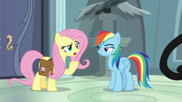 "Fluttershy ""it just came out last week"" S9E21"
