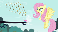 Fluttershy angry with the bees S4E16