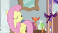 Fluttershy nodding to her birds S8E12.png