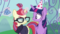 Moon Dancer crumples her party hat S5E12.png