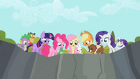 Other main ponies and their pets look down S2E7