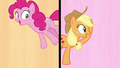 Pinkie Pie and Applejack in a split-screen S7E14.png