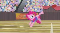 Pinkie Pie does a one-hoof buckball kick S9E6