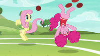 Pinkie Pie kicking softballs into the air S6E18