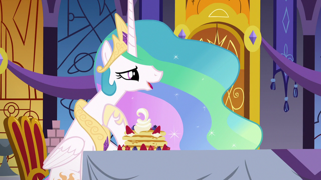 "File:Princess Celestia ""a small way to say I care"" S7E10.png"