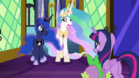 "Princess Celestia ""not exactly"" S9E13"
