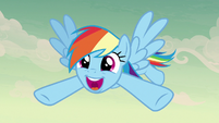 Rainbow Dash ecstatic -awesome!- S7E18