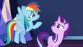 Rainbow Dash shrugging to Starlight S6E1.png