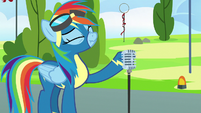 Rainbow Dash taking a deep breath S7E7