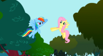 Rainbow about to high five Fluttershy S01E10