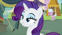 Rarity grinning confidently S7E19