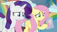 Rarity worried; Fluttershy awkward S9E7