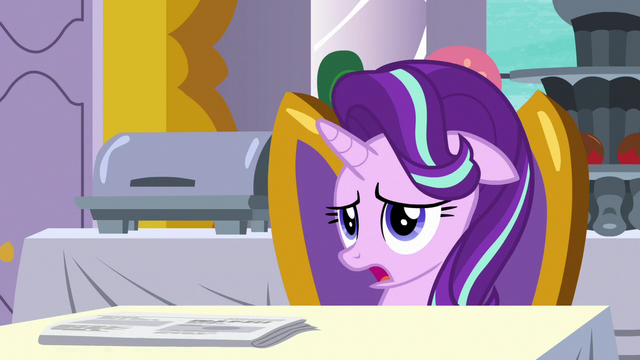 "File:Starlight Glimmer ""guess smiling all day isn't"" S7E10.png"